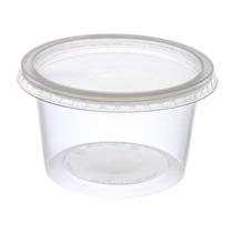 Pote De Plástico Descartável Com Tampa 1000ml Com 6un.