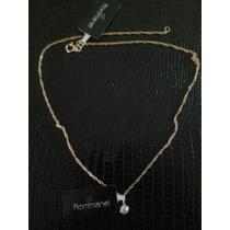 Conjunto Rommanel Cordão 45cm+pingente Ponto De Luz Folheado