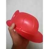 X1 Sombrero Casco Bomberos De Goma Eva Fiestas Disfraz Jodas