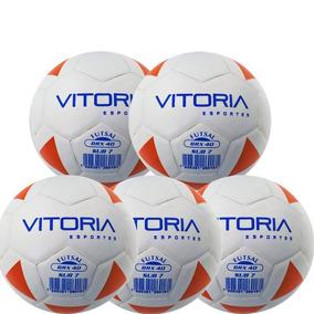 fb7d2c98802d0 Kit 5 Bolas Futsal Vitoria Brx Max 40 Sub 7 (3 6 Anos)