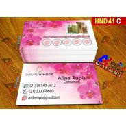 1.000 Cartão De Visita Hinode Cor 4x4 Para Consultores