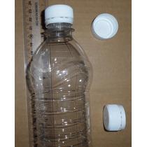 Kit 100 Botella Para Agua 500ml R28/400 Pet Cristal Con Tapa
