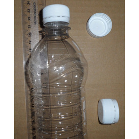Kit 100 Botella Para Agua 500ml R28/400 Pet Cristal Con Tapa