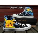 Converse Original Pikachu Pokemon 1 Pintado A Mano