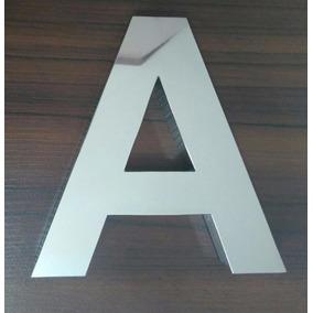 Letras, Numerais E Logos, Em Aço Inox.