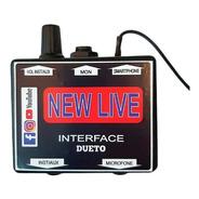 Interface De Áudio Profissional New Live Dueto