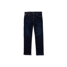 Pantalones Jeans Lacoste Stretch Para Niños, Hj4488
