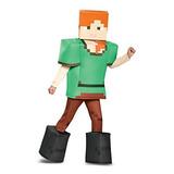 Disfraz De Alex Prestige Minecraft, Multicolor, Grande (10-1
