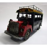 Bus Chiva Colombia Hojalata Laton Grande 31cm Tipo Antiguo