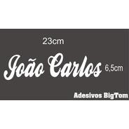 Adesivo Nome ( João Carlos ) 23cm X 6,5cm Preto Recorte