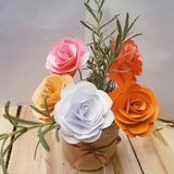 Centros De Mesa Con 7 Flores De Papel Más Lata Decorada