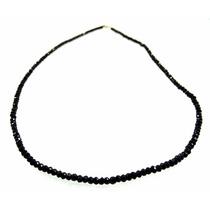 1 (um) Fio Espinélio Negro Conhecido Como Diamante Negro