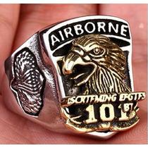 Anel Aço Inox Militar Paraquedista Força Aérea Americana Mc
