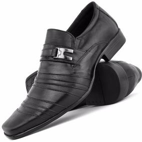 Sapato Masculino Social Preto Couro Italiano Esporte Fino