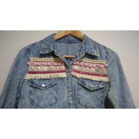 Camisa De Jean Mujer Diseño Artesanal