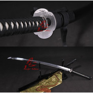 Espada Katana Aço Damasco Forjado Afiado Corte Tameshigiri