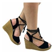 Sandalia Feminina Sapato Salto Sola Conforto Emborrachada