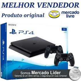 Playstation 4 Slim 1tb 2 Contr + Bolsa - Nota Fiscal