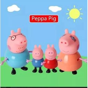 Miniaturas Família Peppa Pig Porco George Papai Mamãe 4pcs