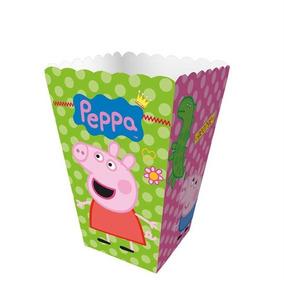 Mini Caixa Para Pipoca Peppa Pig 12 Unidades Regina Festas