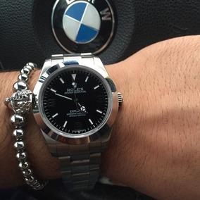 Reloj Rolex Exolorer Automático, Acero Esfera Negra
