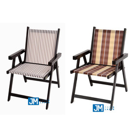 Cadeira Em Madeira Dobrável Varanda Veneza 1peça