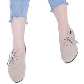Cord¿n De Gamuza De Las Mujeres Casual Zapatos Planos