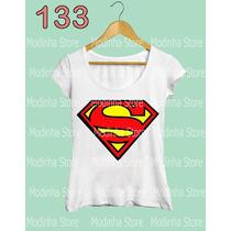Blusa Feminina Estampa Superman Super Homem Girl Herói Moda