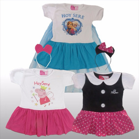Remera Disfraz Nena Personaje Minnie Peppa Accesorio