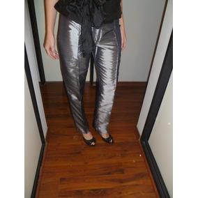 887579b9a Pantalon Cintura Alta Fiesta - Pantalones Plateado en Mercado Libre ...