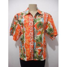 Blusa Tipo Havaiana Masculina Ou Feminina Tam M Sirpier