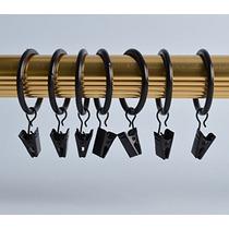 Xin Tienda 32-pack Metal Anillos De Cortina Con Clips - 1.5-