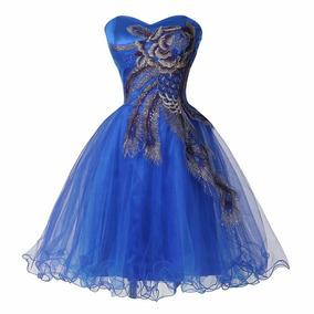 Vestido De Noiva ,debutante Azul- Novo- Pronta Entrega