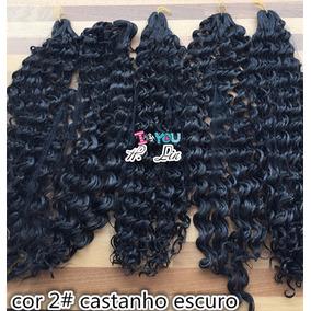Cabelo Organico Afro, 2# Castanho Escuro Lavar E Chapinha