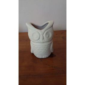 Buho Maceta En Bizcocho Ceramico