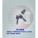 2 Cilindros De Puerta+cerradura Baul Volkswagen Gol-senda