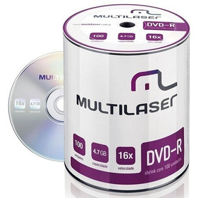 Midia Dvd-r Vel. 16x 100 Un. Shrink Dv037 Multilaser