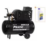 Compressor De Ar 7,4 Pes 50 Litros C/rodas Bivolt Csi Schulz