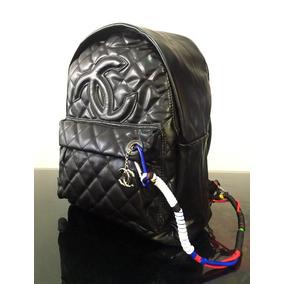 Backpack Mochila Chanel 255 Bolsa Boy Chanel Black Graffitt_