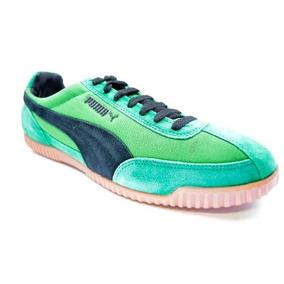 Zapatillas Puma Squash 2000 Suede Hombre Verde C/negro