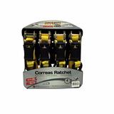 Set 4 Correas Eslingas Ratchet 25mm X 5mt - Biocartuning