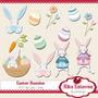 Kit Imprimible Pascua Conejos Huevos Png Clipart [249]