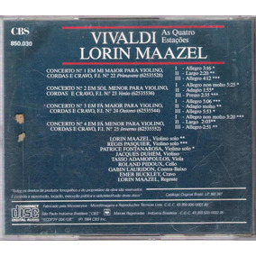 Cd Vivaldi As Quatro Estações Lorin Maazel Philco Hitach