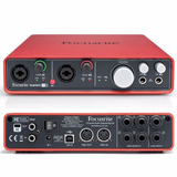 Interfaz De Audio Foscusrite Scarlett 6i6 2da Generecion