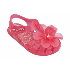 Sandália Infantil Zaxy Flores Do Jardim Baby Rosa Neon