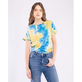 Blusas Dama Tie Dye Azul Con Amarillo Columpio