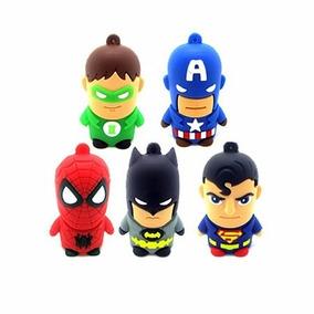 Chaveiro Pen Drive 4gb Heróis Batman Superman Aranha Capitão