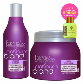 Forever Liss Platinum Blond Kit Matizador + Brinde Argan