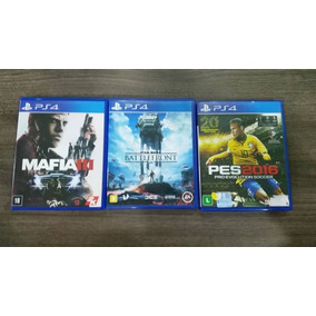 Lote 3 Jogos Ps4 Mafia 3, Star Wars Battlefront, Pes 2016