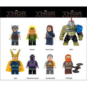 Thor Ragnarok Lego Compatível Hulk Loki Jane Volstagg